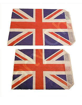 £1.99 • Buy UNION JACK PAPER SWEET COUNTER BAG 5x7  & 7x9  CANDY BUFFET STREET PARTY GIFT