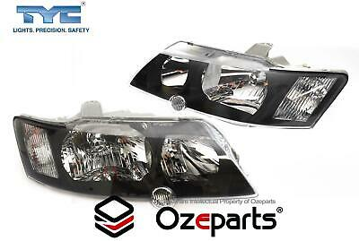 AU167.23 • Buy Pair LH+RH Head Light Lamp Black For Holden VY Commodore SS SV8 2002~2004