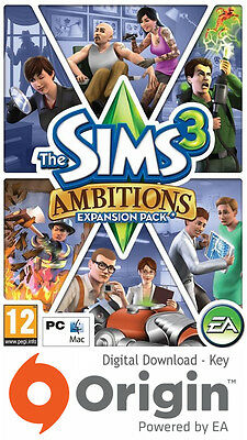 The Sims 3 Ambitions Expansion Pack Pc And Mac Origin Key • 17.99£