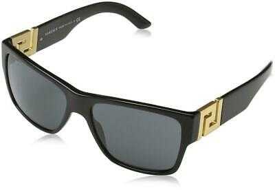 1d6196998f CLASSY NEW Genuine VERSACE ROCK ICONS Black Gold Greca Sunglasses VE 4296  GB1 87 •