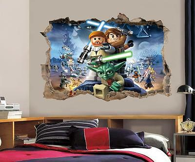 £12.99 • Buy LEGO STAR WARS Smashed Wall 3D Decal Removable Graphic Wall Sticker Mural H162