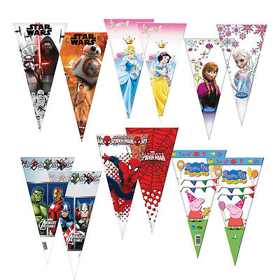 £2.59 • Buy 6 Large Cellophane SWEET CONE BAGS (Party/Treat Cello Bags) {Playwrite}