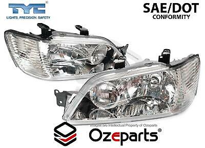 $144.87 • Buy Set / Pair LH+RH Head Light Lamp Chrome For Mitsubishi Lancer CG 2002~2003