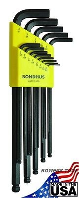 $ CDN18.11 • Buy Bondhus 13 Pc Ball End SAE Standard Inch Hex L Wrench Set .050 - 3/8in USA 10937