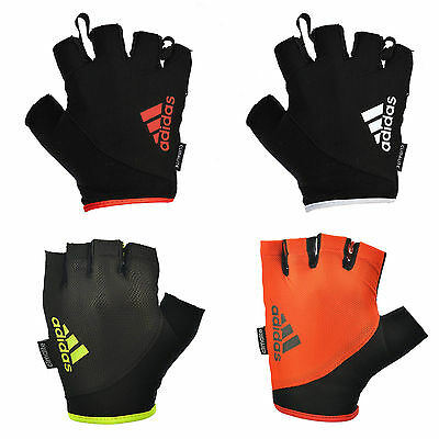 £11.99 • Buy Adidas Essential Weight Lifting Gloves Short Finger Training Fitness Exercise