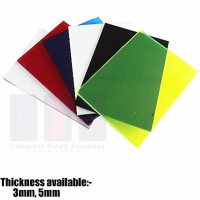 New Colour Perspex Acrylic Sheet Plastic Material Panel  Size A5 A4 A3 • 3.84£