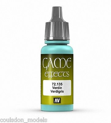 Vallejo Game Color Effects - 72.135 Verdigris - 17ml Acrylic Fantasy Paint • 2.30£