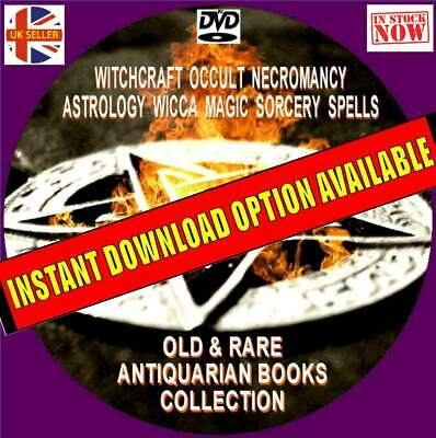 400 Rare Old Books Witchcraft Wicca Black Magic Spells Occult Rituals New Pcdvd • 4.99£