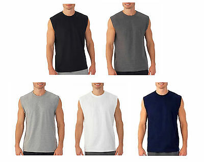 $8.75 • Buy Mens Sleeveless Muscle Tee Cotton Solid Blank Tank T Shirt Hot Summer Gym Top