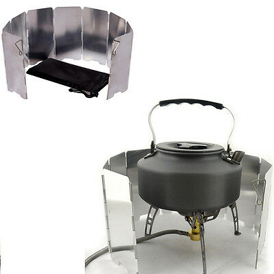 AU15.87 • Buy Outdoor Camping Cooking Picnic 9 Plates Foldable Stove Gas BBQ Burner Windshield