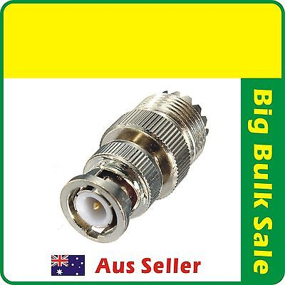 AU9.99 • Buy 2 X  UHF Female To BNC Male Adaptor Connector