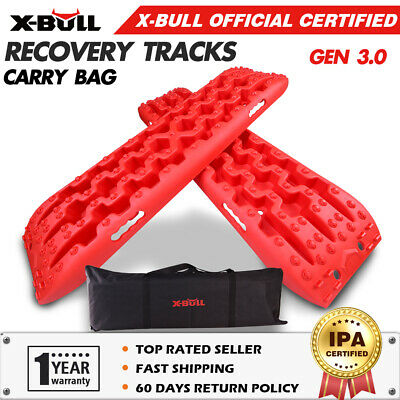 AU94.90 • Buy X-BULL Recovery Tracks Sand Track Red 1 Pair Red Car Accessories 4x4 4WD Gen 3