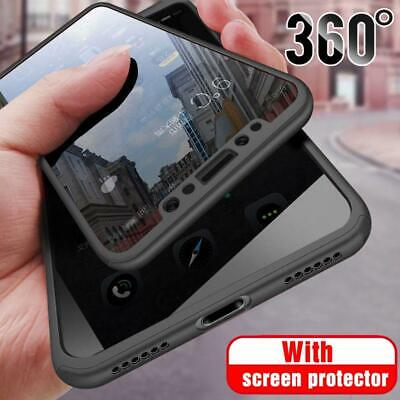 Hybrid 360° Case Tempered Glass Cover For IPhone 12 11 Pro Max SE 2 XS XR X 7 8 • 3.89£