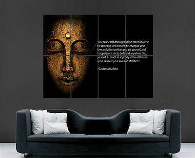 £17.99 • Buy Budda Zen Religion Quote Poster Wall Art Print Image Large Giant Huge Picture G