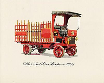 $19.70 • Buy Print.  1906 Red 1906 Mack Truck Seat-Over-Engine