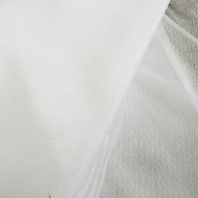 £5.65 • Buy Stretch Jersey Knitted Fusible Iron On Interfacing In WHITE - Sold By The Metre