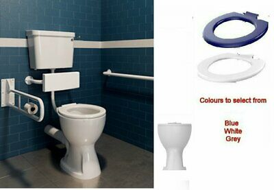 ICare Comfort Hight Rise Disabled LOW LEVEL TOILET PAN Lever CISTERN Ring Seat • 249£