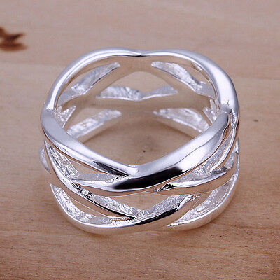 AU6.99 • Buy New Women 925 Sterling Silver Filled Net Filigree Fashion Solid Ring Size 6 -10