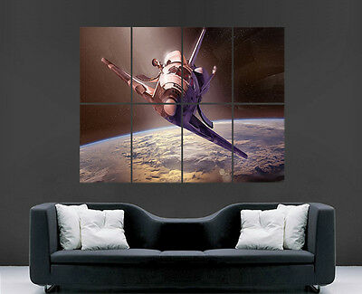 Space Shuttle Poster Nasa Earth Discovery Wall Art Picture Large Giant • 17.99£