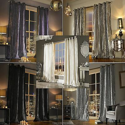 £138.60 • Buy Iliana Curtains By Kylie Minogue - Ring Top Eyelet Heading Velvet Curtains.