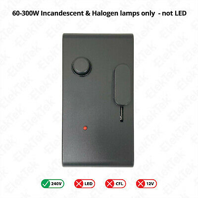 Foot Dimmer Switch Rated 60-300w Ideal For Floor Lamps Choice Of Configurations • 26.99£