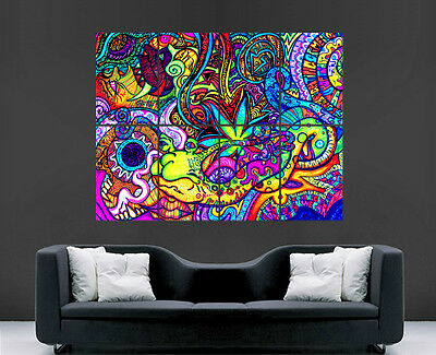 £17.99 • Buy Trippy Poster Psychedelic Picture Giant Wall Art Huge Giant