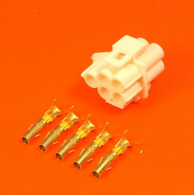 £5.50 • Buy Genuine Lucas Rists 5 Way White 3mm Socket Moulding Wiring Connector Kit