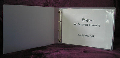 Enigma Archival A3 Landscape 40mm Spine Ring Binder In Frosted Polypropylene • 9.95£