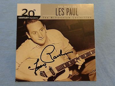 $274.99 • Buy Les Paul Signed Autographed CD Cover/Jacket