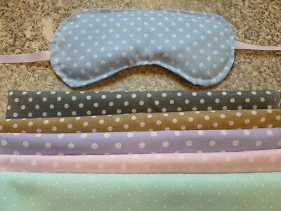 £5 • Buy Wheat Bag-eye Mask -microwave Or Chill- Polka Dot Fabric - Unscented Or Lavender