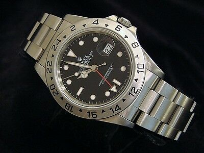 $ CDN8568.63 • Buy Mens Rolex Stainless Steel Explorer II Date Watch 40mm Black Dial Model 16570
