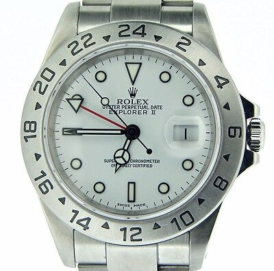 $ CDN9868.47 • Buy 2000's Mens Rolex Stainless Steel Explorer II Watch 40mm SEL Oyster White 16570