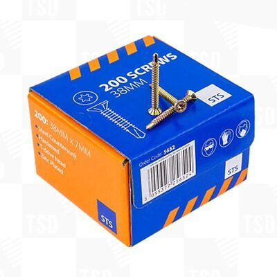 £12.99 • Buy NO MORE PLY 200 Screws 38mm To Screw Down No More Ply 12mm Boards. Free T-20bit