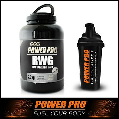 £34.85 • Buy Power Pro Nutrition | Rapid Weight Gain Protein + FREE Shaker | Mass Size Gainer