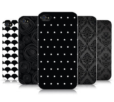 BLACK & WHITE PATTERN COLLECTION MOBILE PHONE CASE COVER FOR APPLE IPHONE 4 4S • 4.95£