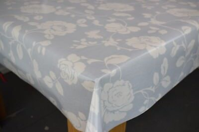 £21.58 • Buy Clarke And Clarke Meadow Grey Cotton PVC WIPE CLEAN Tablecloth Oilcloth