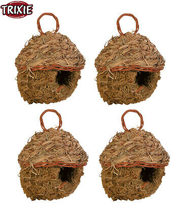 £15.96 • Buy 4 Pack Trixie Woven Small Grass Nest Finch Breeding Baskets For Bird Cage Aviary