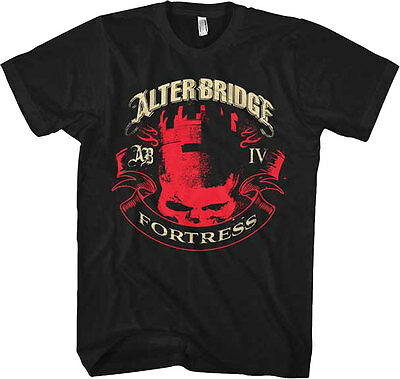 £14.16 • Buy Official Alter Bridge Fortress Banner Adult T-Shirt - American Rock Band Tee