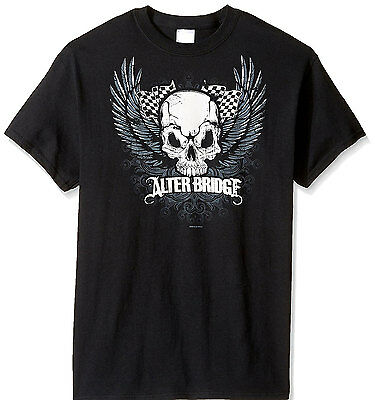 £14.13 • Buy Official Alter Bridge Skull With Wings Adult T-Shirt - American Rock Band Tee