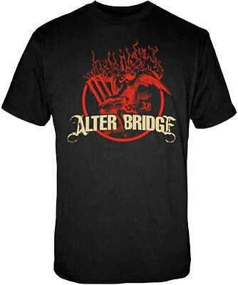 £14.16 • Buy Official Alter Bridge Flames Adult T-Shirt - American Rock Band Tee