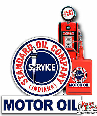 """24/"""" EARLY style STANDARD TORCH GAS PUMP OIL TANK DECAL"""
