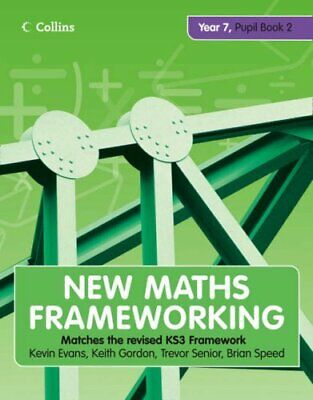 New Maths Frameworking - Year 7 Pupil Book 2 (Level... By Speed, Brian Paperback • 9.99£