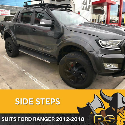 AU199 • Buy Ford Ranger Wildtrak Black Running Boards Side Steps 2012-2019 Dual Cab