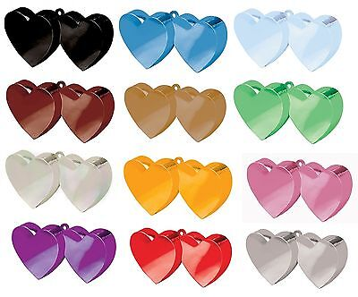 £1.89 • Buy DOUBLE HEART Balloon Weights (170g/6oz) Range Of 13 Colours