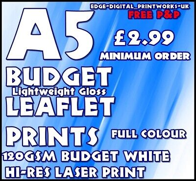 £8.29 • Buy BUDGET LEAFLET / FLYER PRINTING / ADVERTISING 120gsm SILK WHITE A5