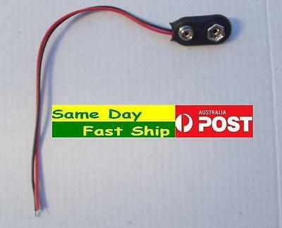 AU2.68 • Buy One New 9V Battery Connector Clasp Clip T-type Cable AUS Local Fast Ship