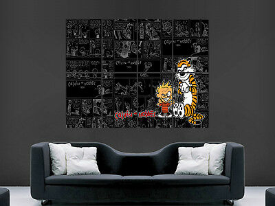 Calvin And Hobbes Kids Poster Comic Strip Wall Anime Art Picture Print Large • 17.99£