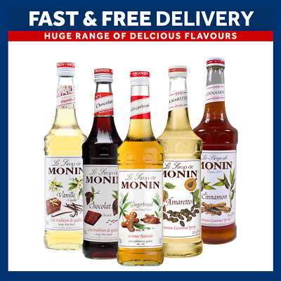 Monin Coffee Syrups 70cl Bottles - AS USED BY COSTA COFFEE - Select Flavours • 9.45£