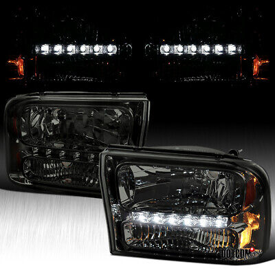 $110.99 • Buy For 1999-2004 Ford F250 F350 Superduty Excursion Smoke 1PC SMD LED Headlights