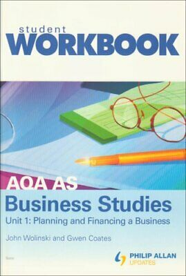 AQA AS Business Studies: Workbook Unit 1... By Wolinski, John Multiple Copy Pack • 13.99£